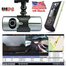 "2.7"" Vehicle 1080P GPS Car DVR Camera Video Recorder Dash Cam G-Sensor Dual Lens"