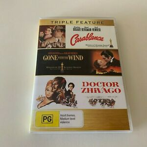Casablanca / Gone with the wind / Doctor Zhivago Triple Feature DVD