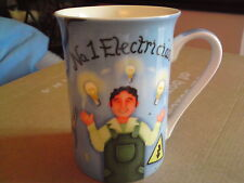 Leonardo Collection Mug Fine Bone China  N01 ELECTRICIAN, VGC, FREE-MAILING.