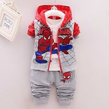 NEW! 2017 Baby boys SPIDERMAN 3 pcs clothing set outfit 12-18 month