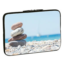 Design Schutzhülle 15,6 Zoll (39,6cm) Notebook Laptop Tasche - stacked stones