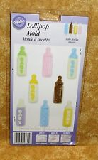 Baby Bottle Chocolate Lollipop mold,Wilton,6 cavities,Clear Plastic,2115-1560