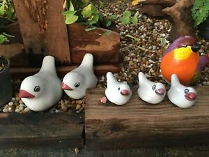 5 Pcs Ceramic dolls For your little garden to look lively