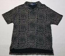 Vintage Polo Ralph Lauren Mens Symbols Print Polo Shirt Yeezy Adult Size XL