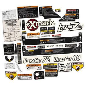Exmark 103-7490 Decal Kit Lazer Z XS