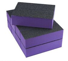 10X Nail Art 3-Sided Buffer Sanding Block Files Manicure Sponge Purple