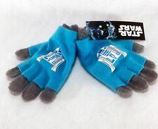 Nwt Girls Disney Star Wars Gloves - R2D2 Droid Blue & Gray 1 Pair