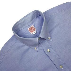 Hommes 16/33 J Press Bleu Clair 100% Coton Chemise Bouton Fabriqué USA