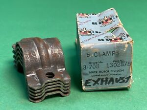 1937-1954 Buick Exhaust Clamps, Box of 5 P/N 1302878 Gr. 3.708 NOS