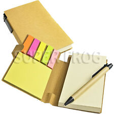 Papier doublé carnet et stylo à bille bloc-notes écrit note pad sticky memo notes