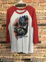 universal studios transformers T-shirt Men's Size Large Red Gray With Logo