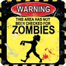 Warning Zombies funny drinks mat / coaster (og)