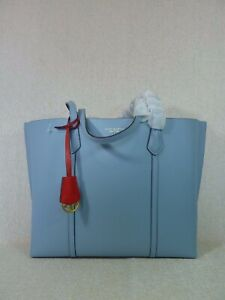 NEW Tory Burch Blue Cloud Perry Triple Compartment Tote $348