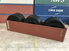 1/50 Container TRITON 40' Open Top With Tyres