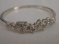 Delicate 0.50 Ct Diamond Cluster Anniversary Band Ring 14k Yellow Gold Finish