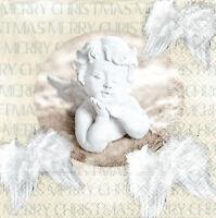 4 Motivservietten Servietten Napkins Weihnachten Engel Putte (1449)