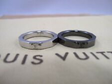 100% Authentic Louis Vuitton Ring Sirver Black Set