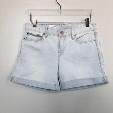 GAP 1969 Womens Shorts Real Straight Light Wash Striped Stretch Rolled Hem 29