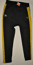 Men's PUMA Riddim Podium Pants Black/Yellow Jamaica Jogger size XXL (T42) $60