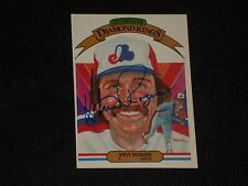 STEVE ROGERS 1982 DONRUSS DIAMOND KINGS SIGNED AUTOGRAPHED CARD #18 EXPOS