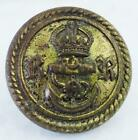 Antique British Royal Navy Reserves Button 15/16' Kings Crown and Anchor with RR