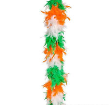 St. Patricks Day Green/White/Orange PACK OF 12 Feather 6' Boa 60g ~NEW~