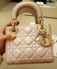 ❈❅❆❈Authentic Dior Lady Dior Mini Bag in Pearly Pink Colour