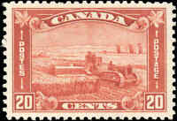 1930 Mint H Canada VF Scott #175 20c King George V Arch/Leaf Stamp