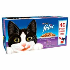 Purina Felix 40x100g  Pouch Jumbo Pack Mix Selection Beef, Chicken, Tuna, Salmon