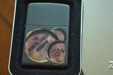 ZIPPO Lighter, 21019 - Jim Beam 3 Barrels, Black Matte, 2006, Sealed, M922