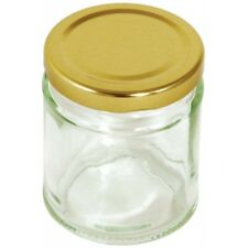 190ml 7oz Round Preserving Jar With Gold Screw Top Lid - Tala Preserve New