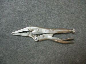 Vintage Petersen Dewitt Vise Grips 4LN Clamp Locking Pliers Long Nose USA