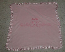 ECKO RED MARC PINK BABY GIRL BLANKET PLUSH FLEECE BUTTERFLY HEART SATIN RUFFLE