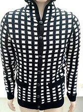 Mens Peoples Market Edshonky Black/White Grid Pattern Cardigan Brand New Size M