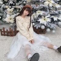 Lady Retro Victorian Lolita Tops Blouse Shirts Embroidery Japanese Retro Sweet