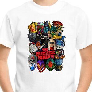 The Suicide Squad T-SHIRT Men Kids Boys Tee Top superhero Movie supervillains