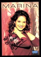 Marina Autogrammkarte Original Signiert ## BC 43970
