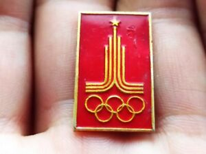 Vintage Soviet Pin Badge Olympic Games,Olympics,Moscow 1980 USSR