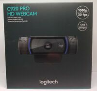 Logitech C920 Pro HD 1080p Webcam video calling with stereo audio (960-000764)