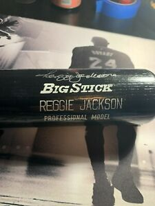 Reggie Jackson Autograph Bat Professional Model JSA Yankees