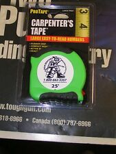 "25 FT 1"" CARPENTERS XR TAPE MEASURE BY U.S.TAPE SELF LOCKING"