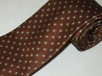 Brooks Brothers Tie Brown Gold Floral Woven Luxury Necktie Jacquard Mens Silk
