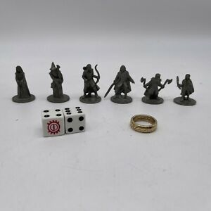 Lord of the Rings Monopoly 6 Replacement Pieces Movers Tokens + Ring + Dice