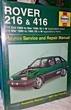 HAYNES OWNERS WORKSHOP MANUAL ROVER 216 416 PETROL 1989 TO 1996