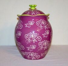 TEMPTATIONS FLORAL LACE COOKIE JAR CANISTER with GASKET SEAL