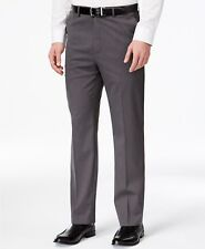 $200 MICHAEL KORS Mens GRAY FIT FLAT FRONT SUIT DRESS PANTS TROUSERS 44 W 30 L
