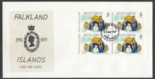 Falkland Islands 1977 Silver Jubilee booklet panes on FDCs