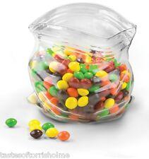 Fred Unzipped Ziplock Pocket Pouch Glass Serving / Sweetie Jar Bowl