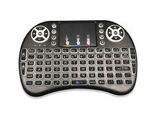 Wireless Mini Keyboard Rii i28W Remote Control Audio Touchpad SmartTV PC BLACK