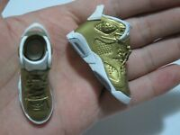 """1/6 Scale Sneakers Sports Shoes Trainers Air AJ6 Gold for 12"""" Action figure"""